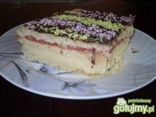 Kruche ciasto przekładane masami