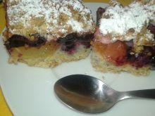 Kruche ciasto śliwkowo - truskawkowo - borówkowe