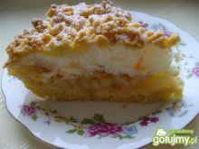 Kruche ciasto z gruszkami i skórką pomar