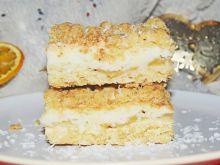 Kruche ciasto z jabłkami i kokosową pianką