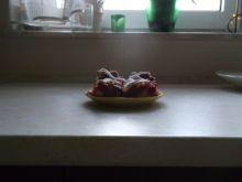 Kruche ciasto z malinami