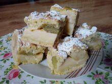 Kruche ciasto z rabarbarem i jabłkami