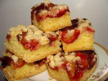 Kruche ciasto ze śliwką