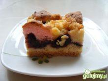 Kruche ciasto ze sliwkami  i pianką