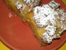 Ciasto kruche rabarbarowo - brzoskwiniowe