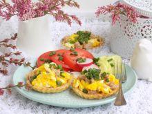 Kruche tartaletki z tuńczykiem i jajecznicą
