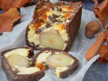 Kruche z gruszką w kremie czekoldowym