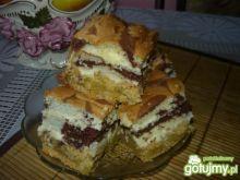 Krucho-biszkoptowe ciasto przekładane