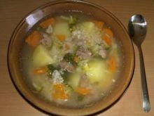 Krupnik z brokułami wg Beaty