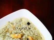 Krupnik z wędzonego łososia z ryżem