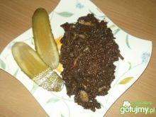 Krupniok z pieczarkami i cebulką