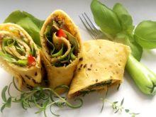 Kukurydziane naleśniki z mięsem i ziołową nutą