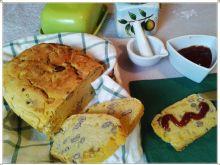 Kukurydziany chleb z czerwoną fasolą i kukurydzą