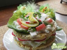 Kukurydziany sanwich z surimi.