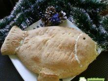 Kulebiak krucho drożdżowy z karpiem