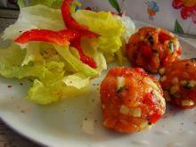 Kulki łososiowe przystawka z warzywami