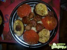 kulki mięsne z bakłażanem i makaronem