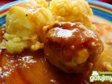 Kulki mięsno jajeczne w sosiku