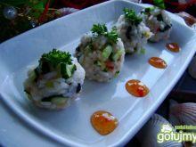 Kulki sushi na ostro