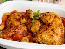 Kurczak bursztynowy z warzywami i czosnkiem