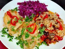 Kurczak chili z bakłażanem