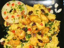 Kurczak curry z kokosowym pilawem