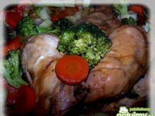 Kurczak duszony w jarzynach.