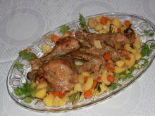 Kurczak duszony w winie