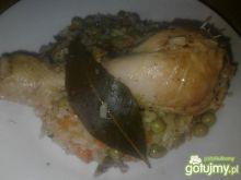 Kurczak duszony z jarzynami i ryżem