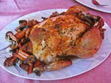 Kurczak faszerowany papryką i pieczarkami