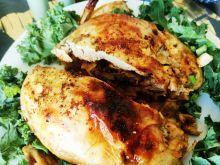 Kurczak faszerowany szpinakiem i grzybami leśnymi