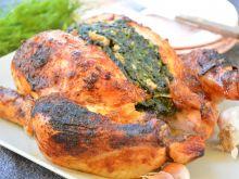 Kurczak faszerowany szpinakiem z boczkiem