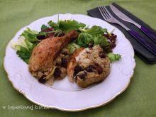 Kurczak faszerowany żurawiną z gruszkami