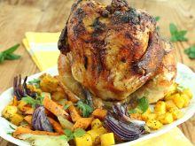 Kurczak gyros z batatami i dynią