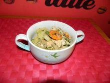 Kurczak i warzywa z patelni