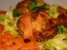 Kurczak na oranżowym Tagliatelle