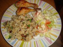 Kurczak na ostro z jajecznym ryzem