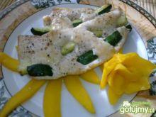 Kurczak na posłaniu z mango
