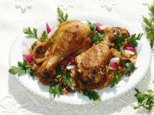 Kurczak na ryżu z pieczarkami