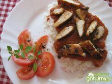 Kurczak na sosie dyniowo-pomidorowym