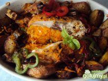 Kurczak nadziewany marchewka i cebulą