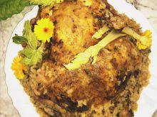 Kurczak nadziewany tartą cukinią, ryżem z prodiża