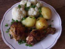 Kurczak paprykowo majerankowy - pieczony