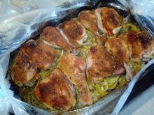 Kurczak pieczony na porze