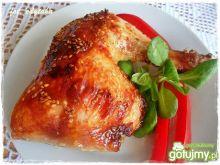 Kurczak pieczony w miodzie i sezamie