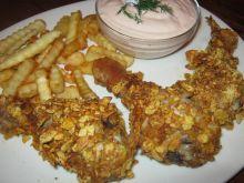 Kurczak pieczony w płatkach kukurydzianych