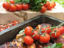 Kurczak pieczony w pomidorach