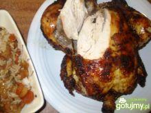 Kurczak pieczony, z ciemną skórką