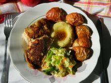 Kurczak pieczony z jabłkami