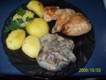 Kurczak pieczony z musztardą